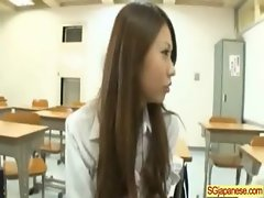 Cute Asian In Uniform Get Sex In Class clip-36