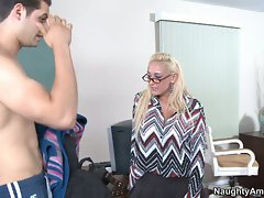 Horny Serena Marcus eyes up this mouth watering co-ed