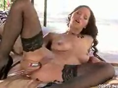 Dildo loving Angel Dark pumps her pussy until spasms of pleasure erupt.