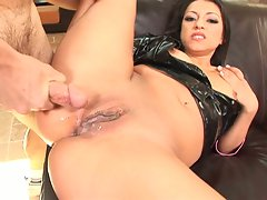 Rachel Milan takes a big load on her crack after getting fucked