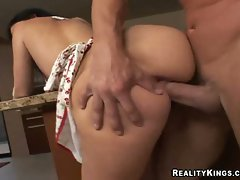 Watch Luscious Lopez's big ass wiggle while she gets fucked hard from behind