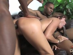 Desi Foxx suck cock and fuck by black men