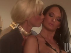 Tanya James gets her girl Alektra hot, bothered and dripping wet