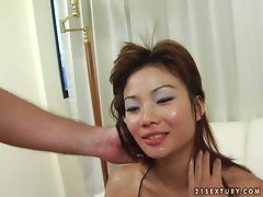 Lovely Asian Catsumi cum squirted after good fucking