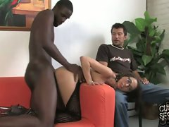 Veronica Jett enjoy the butt fucking with a black guy