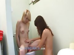 czech serious dildo testing on toilet