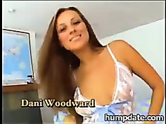 Dani Woodward rides on cock