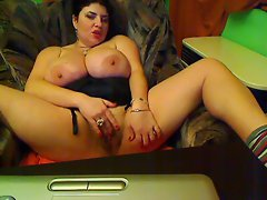 huge tits on a fat cam babe