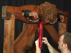 Black babe bound and caned