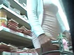 Store Upskirt, girl without Panties