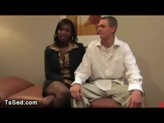 Sex therapist tranny fucks guy in office