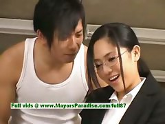 Sora Aoi innocent naughty asian secretary enjoys getting fucked at break time