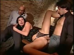 Glamorous Euro chick fucked in the basement