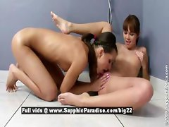 Nikitta and Aiden astonished lesbian babes fingering