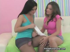 Two horny Latina chicks love showing part2