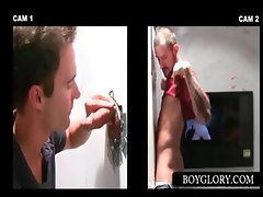 Straight guy tricked into gay BJ on gloryhole