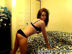 Dancing on webcam showing her great part4