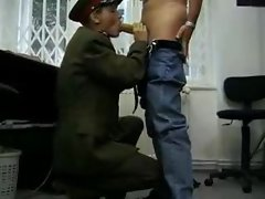 Hot military officer fucked by big cock