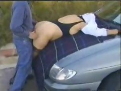 Several clips of this slut out dogging