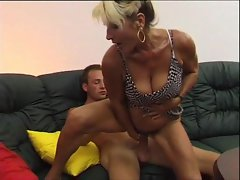 Fucking his aunt with his big cock