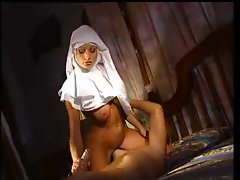 Horny nun really wants anal sex with the guy