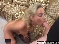 Stockings milf doing oral and hard fucking