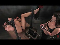 Hottie having fun with electro shock