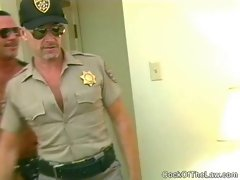 Older cop sucks off a hung beefy bear