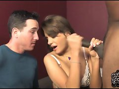 Nika Noire gets a creampie in front of her cuckold hubby