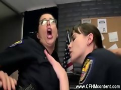 Police sluts get fucked from behind with young hard cocks
