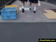 Hot Young Japanese babes Fuck In Public video-18