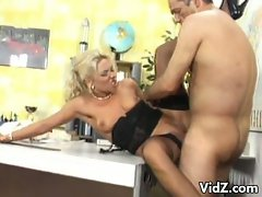 Blonde milf gets banged by her office mate