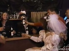 Gangbang scene from this wedding video