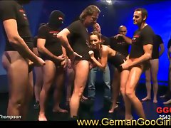 German goo girl mary surrounded by cocks