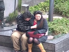 Asian chick humiliated in public