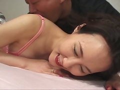 Hot asian babe gets it hard in the ass