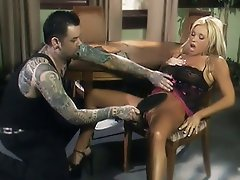 Nasty blondie Ashton Moore gets together with her mean master and...