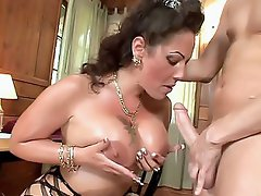 Today we have this big titty MILF in revealing bodystockings, showing...