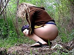 Pissing forest trip...