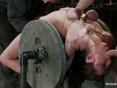 Princess Donna, bound, fucked by James Dean and his Huge Cock.  Isis...