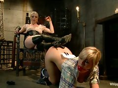 Tara Lynn Fox is humiliatingly punished lesbo style for teasing a...
