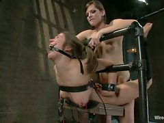 Vai is pushed to her limits with bondage, electroplay, and lesbian...