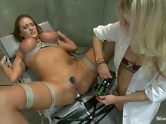 Ashley Fires plays a naughty doctor abusing her patients in the psych...