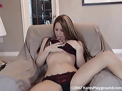 Kate poses on the couch showing off her perfect ass and amazing tits....