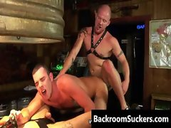 Butch Bum Bashing in the Back Room gay video