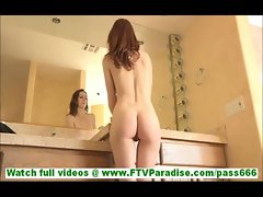 Meghan slutty brunette milf masturbating hand insertion inside and showing pussy