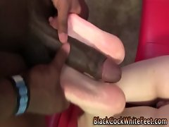 Slut with a desire for ebony meat between her feet