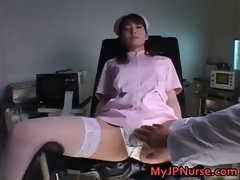 Ann Nanba Lovely Asian nurse spreads her