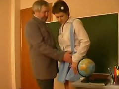 French Schoolgirl abused and Molested by Old teacher in school