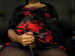 Satin Nightie Orgasm